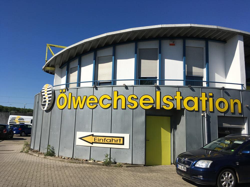Bild Ölwechselstation Gebäude